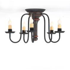 wilcox colonial 6 arm chandelier handcrafted metal candelabra