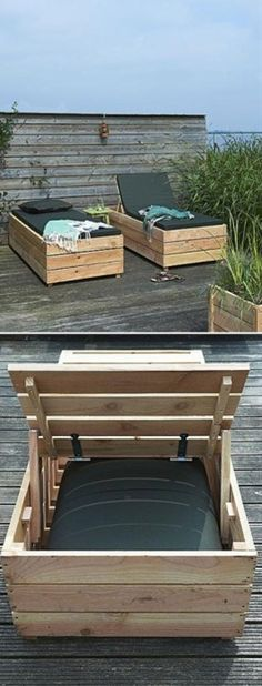 DIY Patio Day Bed  yes please!!!! - Click image to find more DIY & Crafts Pinterest pins