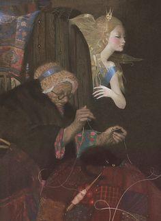 Sleeping beauty and the fateful spindle. nadezhda illarionova   Tumblr