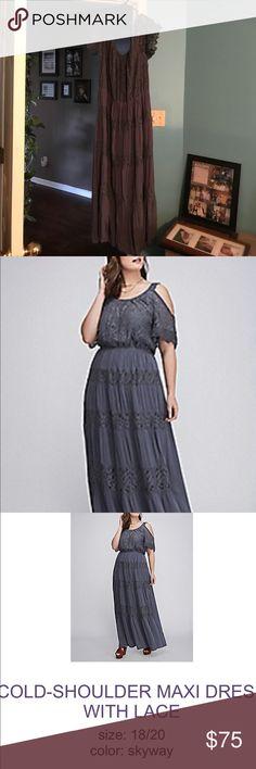 Never worn maxi off the shoulder dress Never worn maxi off the shoulder dress Lane Bryant Dresses Maxi
