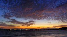 Morning Now at Hakata bay in Japan