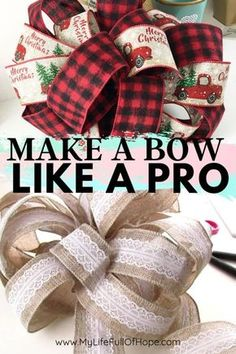 How to Make a Bow Do you ever wonder how do they create those huge beautiful bows that you see in the stores? Or maybe you're tired of spending money on cheaply made bows. Well, today I am going to show you how you can create your very own custom bows. Diy Bow, Diy Ribbon, Ribbon Bows, Ribbons, Bow From Ribbon, Ribbon Flower, Fabric Flowers, How To Make Wreaths, How To Make Bows