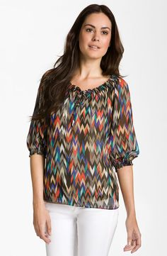 Eight Sixty ~ woven peasant blouse.