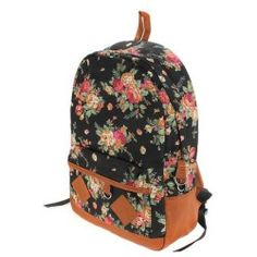 Women Girl Lady Vintage Cute Flower Floral Bag Schoolbag Campus Bookbag Backpack 5 Colors Laptop Notebook Tablet PC