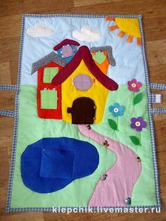 """Brinquedos educativos artesanais.  Mestres Fair - handmade tapete Desenvolvimento """"Tower"""" (para crianças dos meses 6ti).  Handmade."""