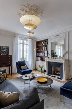 An eclectic living room that works!