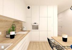 SKANDYNAWIA W NOWOCZESNYM WYDANIU NA WOLI - Mała otwarta kuchnia w kształcie litery l, styl nowoczesny - zdjęcie od design me too