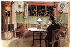 'Quand les enfants sont allés au lit', 1897 de Carl Larsson (1853-1919, Sweden)