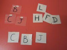 idéesautisme: Appariement de lettres (débutant)