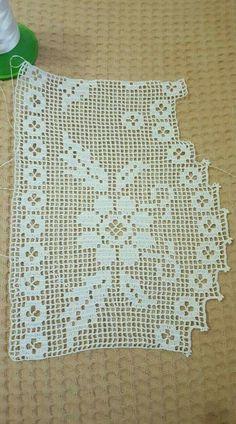 Crochet Lace Edging, Crochet Borders, Love Crochet, Crochet Yarn, Crochet Flowers, Hand Crochet, Crochet Stitches, Crochet Hooks, Crochet Patterns