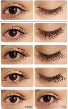When choosing your eyelash extensions, you will have the choice of getting lashes made from real human hair or the ones that consist of synthetic solutions. Bottom Eyelashes, False Eyelashes, Artificial Eyelashes, Silk Eyelash Extensions, Kajal, Individual Lashes, How To Clean Makeup Brushes, Eye Shapes, Eye Make Up