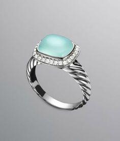 David Yurman: Noblesse Ring, Aqua Chalcedony: YOU WILL BE MINE.