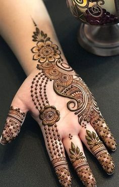 Designer Simple Arabic Mehndi Designs : Check out this amazing and attractive Arabic Designs. Latest Arabic Mehndi Designs, Henna Tattoo Designs Simple, Floral Henna Designs, Mehndi Designs Book, Full Hand Mehndi Designs, Mehndi Designs 2018, Modern Mehndi Designs, Mehndi Designs For Beginners, Mehndi Designs For Girls