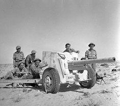 Ordnance QF 6-pounder, North Africa WWII - pin by Paolo Marzioli