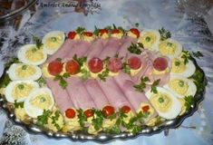 11 hidegtál-variáció a szilveszteri partihoz | Mindmegette.hu Antipasto, Cold Dishes, Tuna, Sushi, Watermelon, Cooking Recipes, Meat, Fruit, Ethnic Recipes