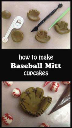 Baseball Mitt Cupcakes | Little Delights Cakes