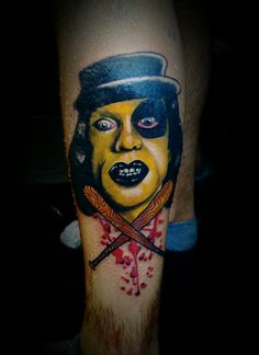 Baseball furies the warriors. ..portrait color tattoo