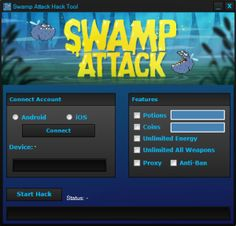 New Swamp Attack Hack – Unlimited Potions download working tool undetected.File updated 2016. No survey download new for Swamp Attack Hack – Unlimited Potions