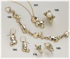 14kt.gold jewelry handcrafted by Richelle Leigh Collection