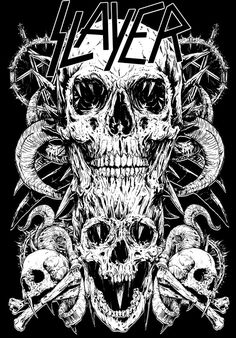 Here you can see my t-shirt designs for Slayer. I'm big fan of their music, so it's always unique experience to work for them.