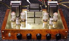 "DIY Push-Pull Tube Amplifier. Audiophiles ""shape"" the sound by selecting specific tubes to complement their musical tastes."