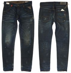 RRP € 239 NEW REPLAY GEEBO  W-31 L-34 TAPERED JEANS MADE IN ITALY