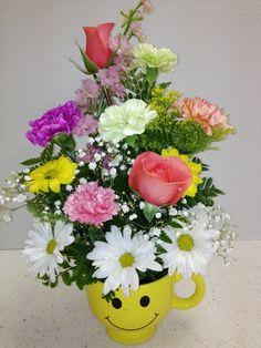 Bright happy birthday flowers from roadrunner florist basket express happy colorful smile designed by roadrunner florist basket express phoenix az mightylinksfo