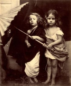 Paul and Virginia, 1864 -- Early Portrait Photography from the Victorian Era by Julia Margaret Cameron History Of Photography, Portrait Photography, Artistic Photography, Vintage Pictures, Vintage Images, Photos Du, Old Photos, Calcutta, Julia Cameron