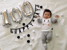 H baby baby potho Newborn Boy Clothes, Baby Boy Newborn, 100. Tag, Baby New Year, Baby Monat Für Monat, 100 Day Celebration, Monthly Baby Photos, Baby Event, Minimalist Baby