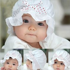 >> Click to Buy << Top Qualiy! New Hot Selling Summer Baby Girls Boys Cute olka Dots&Bow Lace Sun Hat Caps Fashion Adjustable Beanie Hat Wholesale #Affiliate