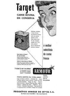 Frigoríficos Armour do Brasil anunciam carne bovina em conserva 1951
