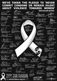 white ribbon awareness month for violence against women - Google Search