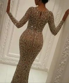 Evening dress Yousef aljasmi Labourjoisie Long sleeve Mermaid Crystals Hind-bh K. Formal Dress Shops, Formal Evening Dresses, Elegant Dresses, Evening Gowns, Beautiful Dresses, Nice Dresses, Sexy Dresses, Prom Gowns, Dinner Gowns