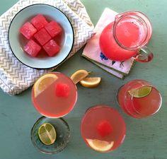 Watermelon rum fizz