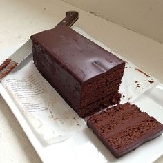 Ritz-Carlton's chocolate cake soaked in Grand Marnier and studded with candied orange peel. Yum!