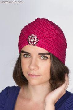 Heather Rose Turban Hat - Free Crochet Pattern Sponsored By: Grandma's Crochet Shop