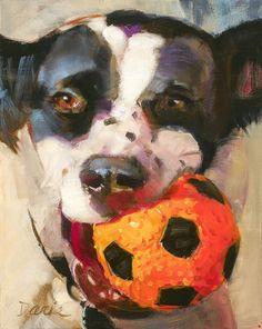 Play Ball! by Daria Shachmut Oil ~ 14 x 11