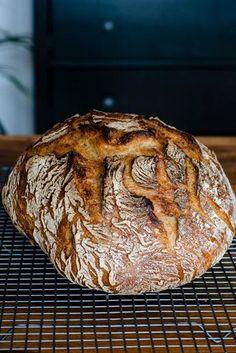 Simple country bread over night - rezepte - Homemade Bread Easy Cake Recipes, Pumpkin Recipes, Bread Recipes, Baking Recipes, Pizza Recipes, Pain Artisanal, German Bread, Country Bread, Chocolate Cake Recipe Easy
