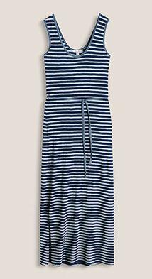 Esprit / Jersey-Maxi-Kleid aus 100% Baumwolle
