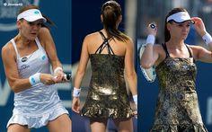 Agnieszka Radwanska's most shocking dresses of 2015 #silver #metallic #Lotto