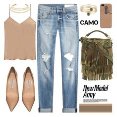 """Camo"" by mrs-rc ❤ liked on Polyvore featuring Yves Saint Laurent, rag & bone, Etro, Casetify, 8, Jimmy Choo, Kenneth Jay Lane and camostyle"