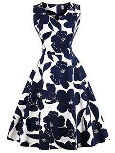 CMKEJI Women's A-Line Knee-Length Vintage Evening Kleider Rockabilly Dress Festive Party Dresses Cocktail Dresses Prom Dresses With Sleeves, 50s Dresses, Pretty Dresses, Vintage Dresses, Beautiful Dresses, Fashion Dresses, Summer Dresses, White A Line Dress, Dress Black