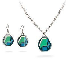 Diamond jewelry, Minecraft style: http://www.walletburn.com/Minecraft-Diamond-Jewelry_676.html #gamer #giftideas #minecraft