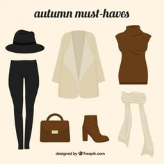 Autumn must haves design Free Vector