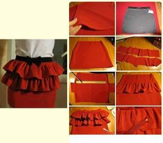DIY Peplum Skirt