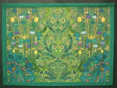 Flowers of Forest ...by Fumiko Nakayama. This quilt artist is known for her modern interpretations of the Pamamanian mola. Gorgeous work.