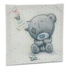 Tiny tatty teddy white canvas