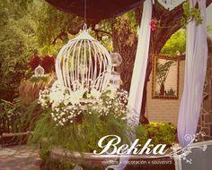 Flores / Jaula / Birdcage / flowers / novia / bride / wedding decor / decoracion bodas / guadalajara