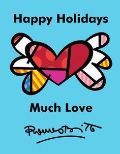 Britto Holiday Greeting Card.