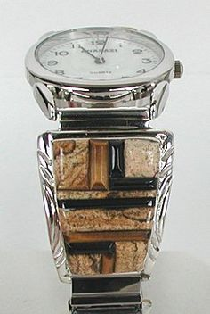 Native American Navajo  Indian Jewelry; Navajo Sterling Silver Watch
